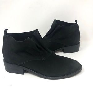 Eileen Fisher Black Leather Slip On Ankle Boots
